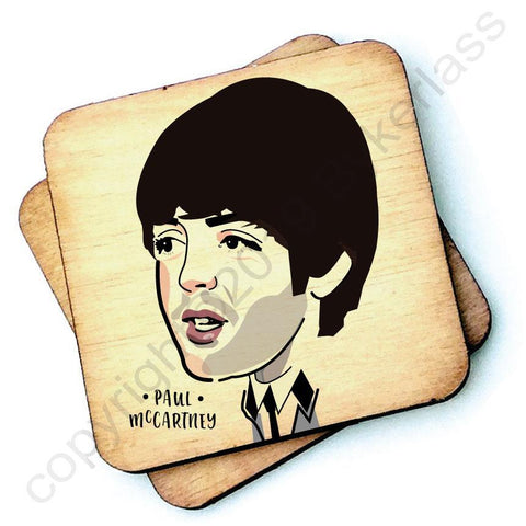 Paul McCartney - Character Wooden Coaster - RWC1