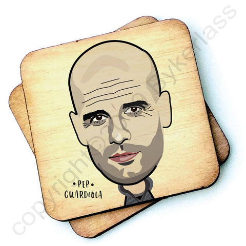 Pep Guardiola - Character Wooden Coaster - RWC1