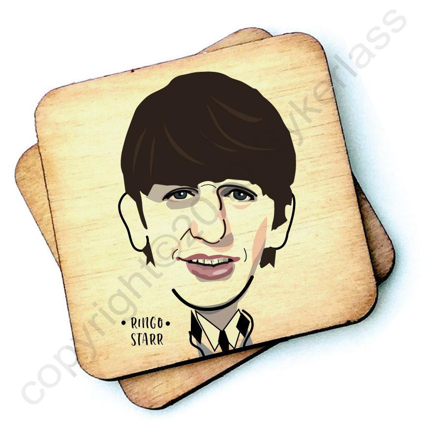 Ringo Starr - Character Wooden Coaster by Wotmalike