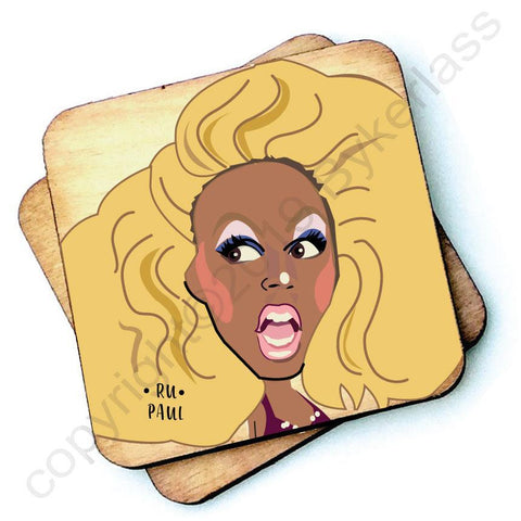 Ru Paul - Character Wooden Coaster - RWC1