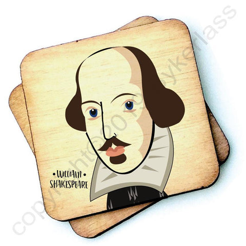 William Shakespeare - Character Wooden Coaster - RWC1