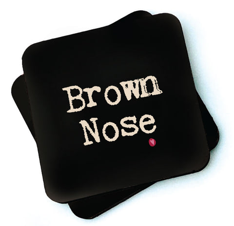 Brown Nose - Dark Collection Wooden Coasters - RWC1