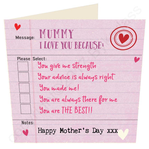 Happy Mothers Day Card -  (MBV5-12)
