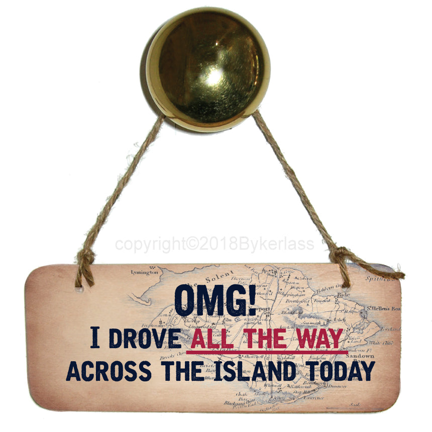Across The Island Rustic Wooden Sign by Wotmalike