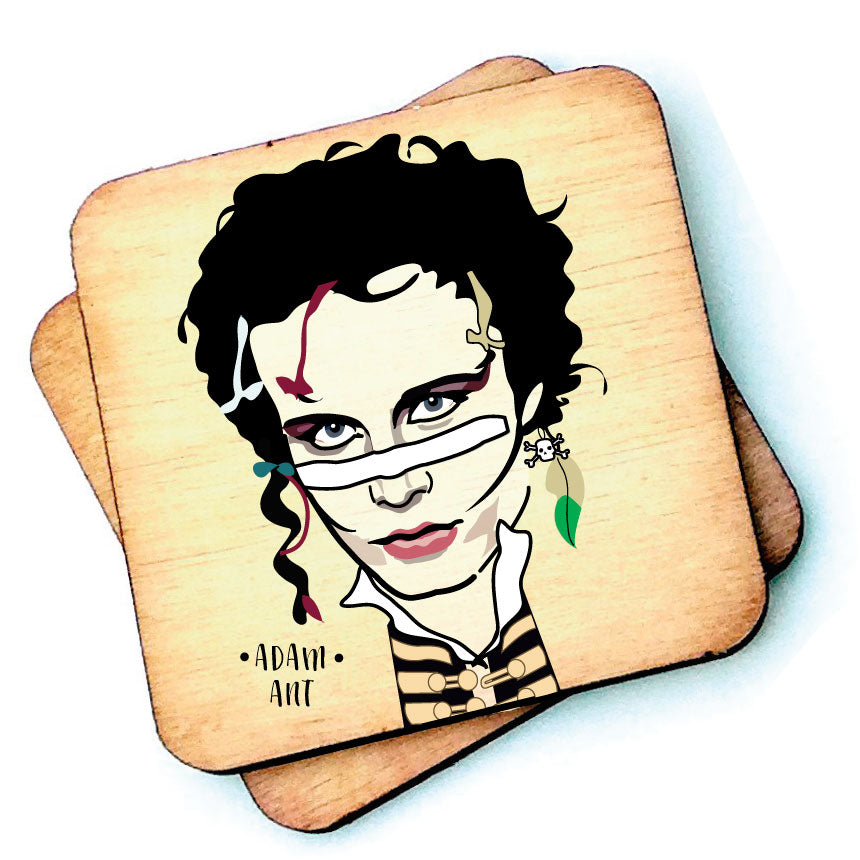 Adam Ant Wooden Coaster by wotmalike
