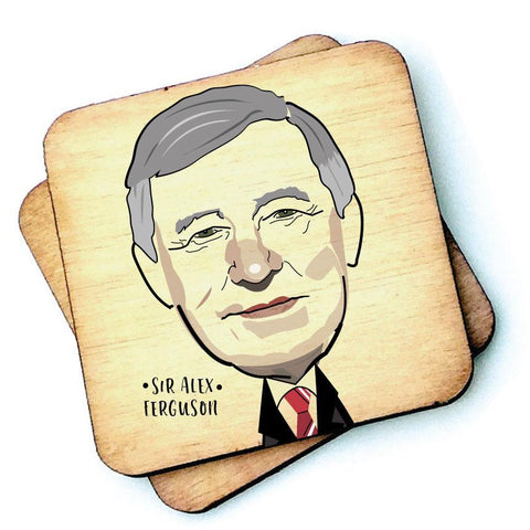 Sir Alex Ferguson - Character Wooden Coaster - RWC1