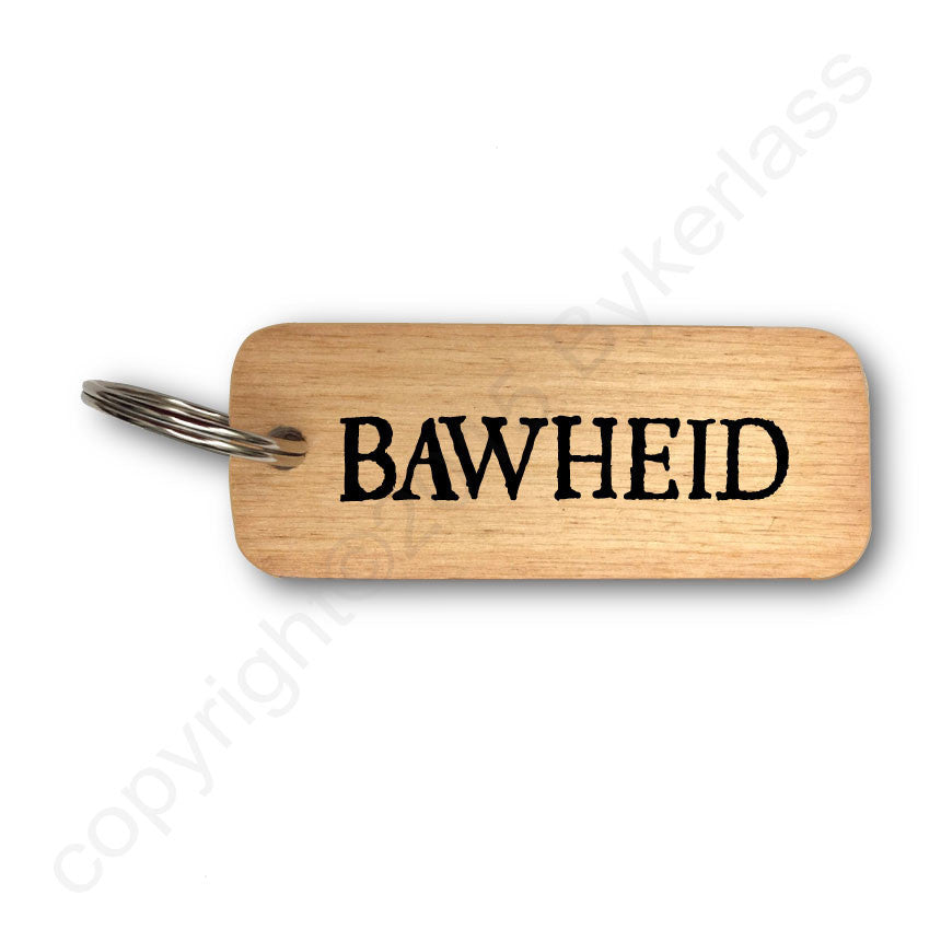 Bawheid -  Scottish Celtic Rustic Wooden Keyring