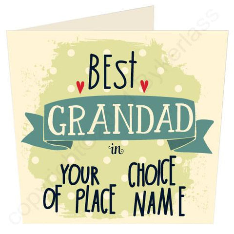 Best Grandad in... YOUR CHOICE Father's Day Card  (MB13)