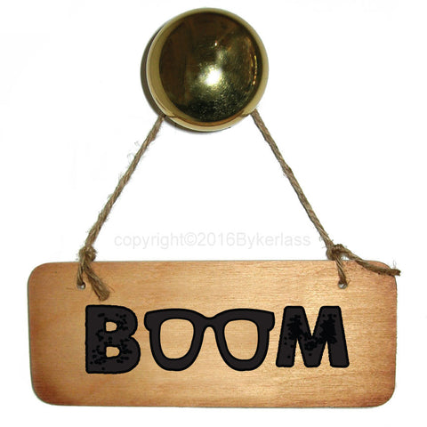 Boom! Scouse Wooden Sign RWS1
