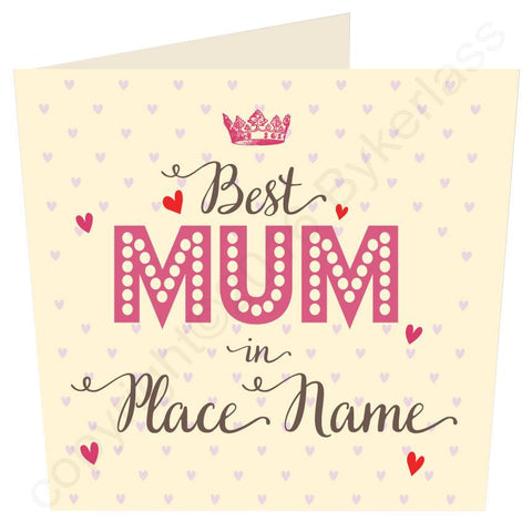 Large Best Mum, Mother, Gran, in..... CREAM Mothers Day Card -  (MB35)