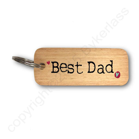 Best Dad Father's Day Wooden Keyring - RWKR1