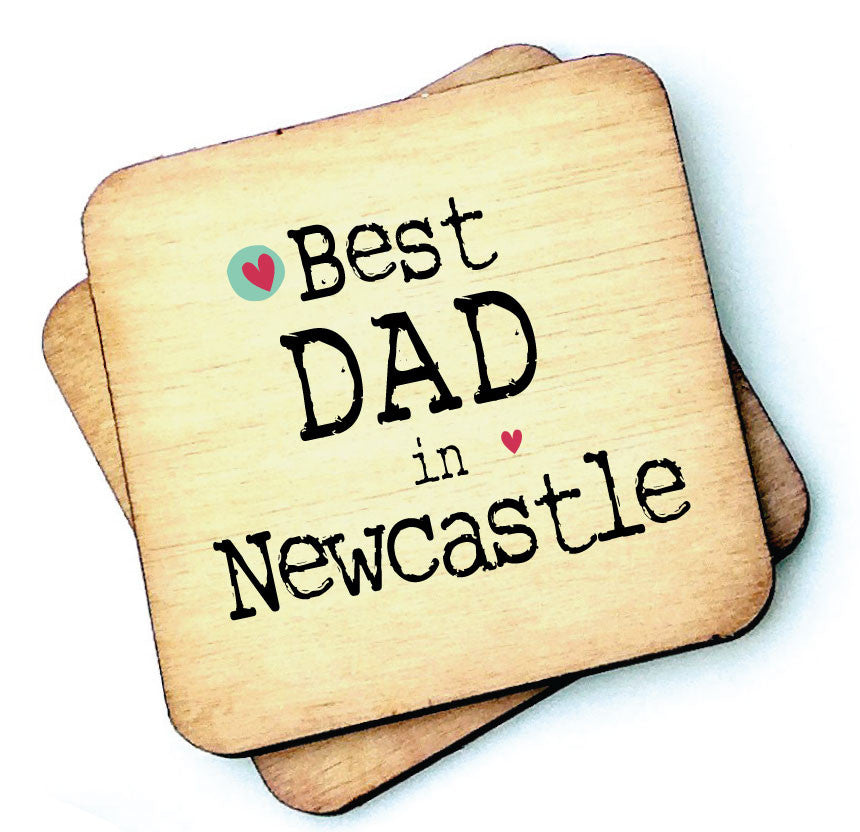 Best Dad, Daddy, Grandad etc in Personalised Wooden Coaster