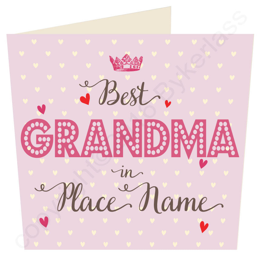 Large Best Mam, Mum, Mother, Gran, in..... ROSE Personalised Card by Wotmalike