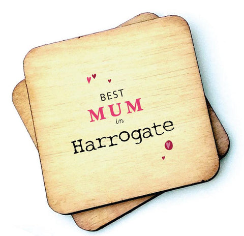 Best Mum, Mummy etc in Mothers Day Gift - Bespoke Wooden Coaster - RWC1