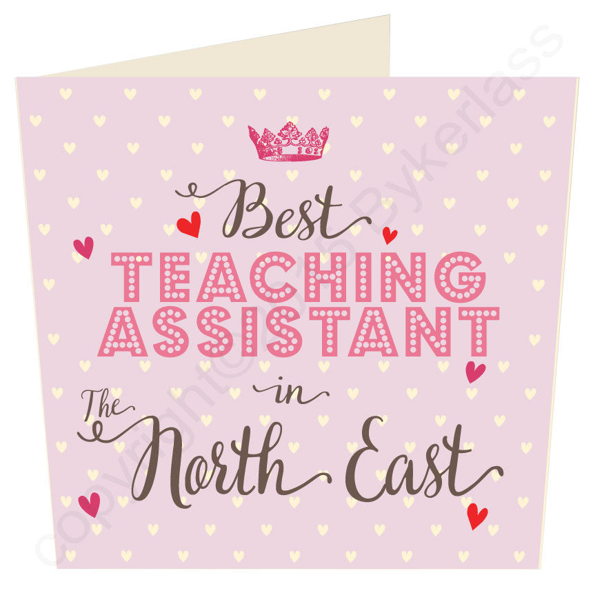 ROSE Large Best Teacher / Teaching Assistant etc  in...... Personalised Card (MB34)