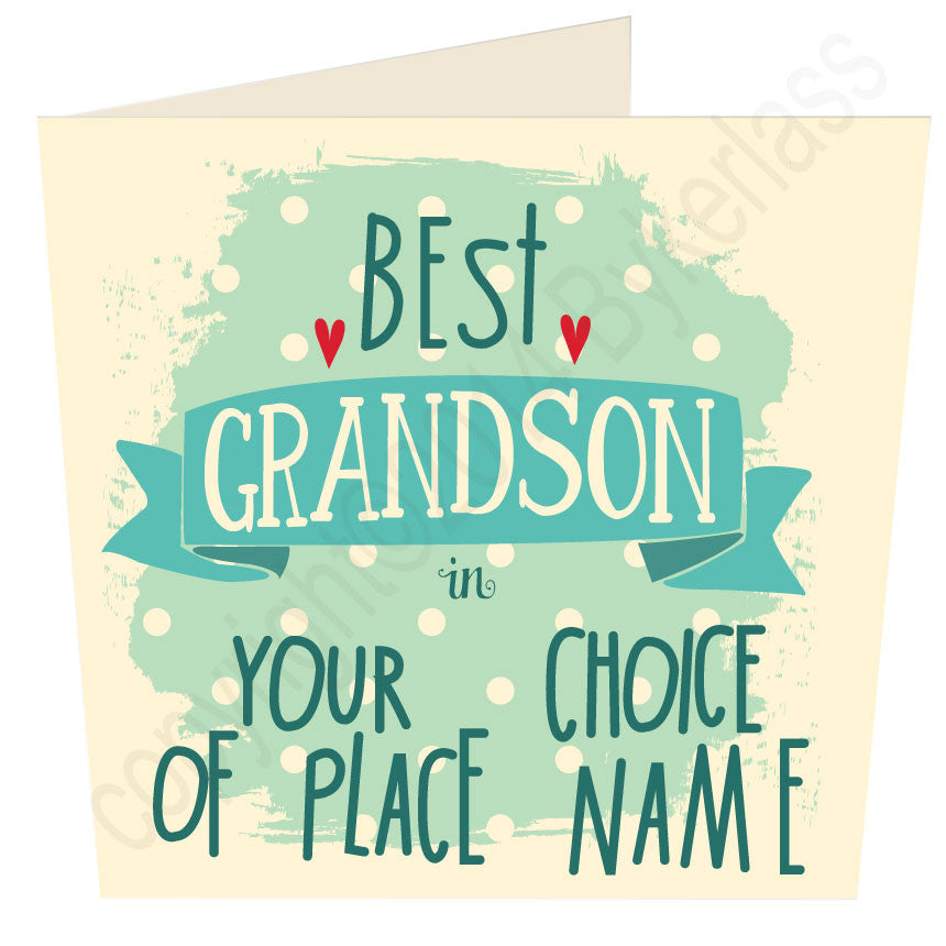 Personalised Best Grandson in......