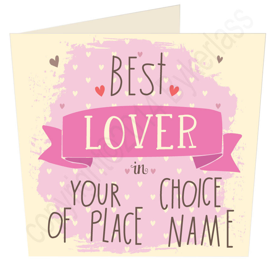 Best Lover in ... (pink) Your Choice