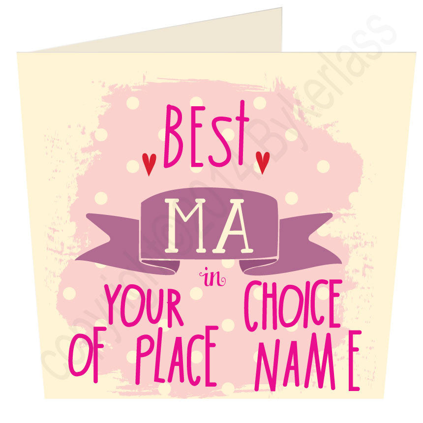 You Choose Place Name Best Ma in...
