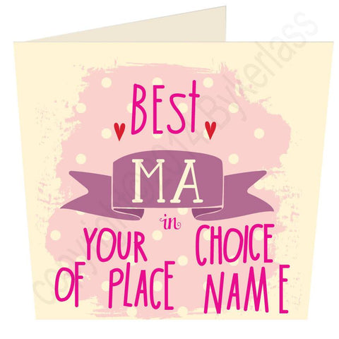 Best Ma in.... Bespoke Mothers Day Card -  (MB13)