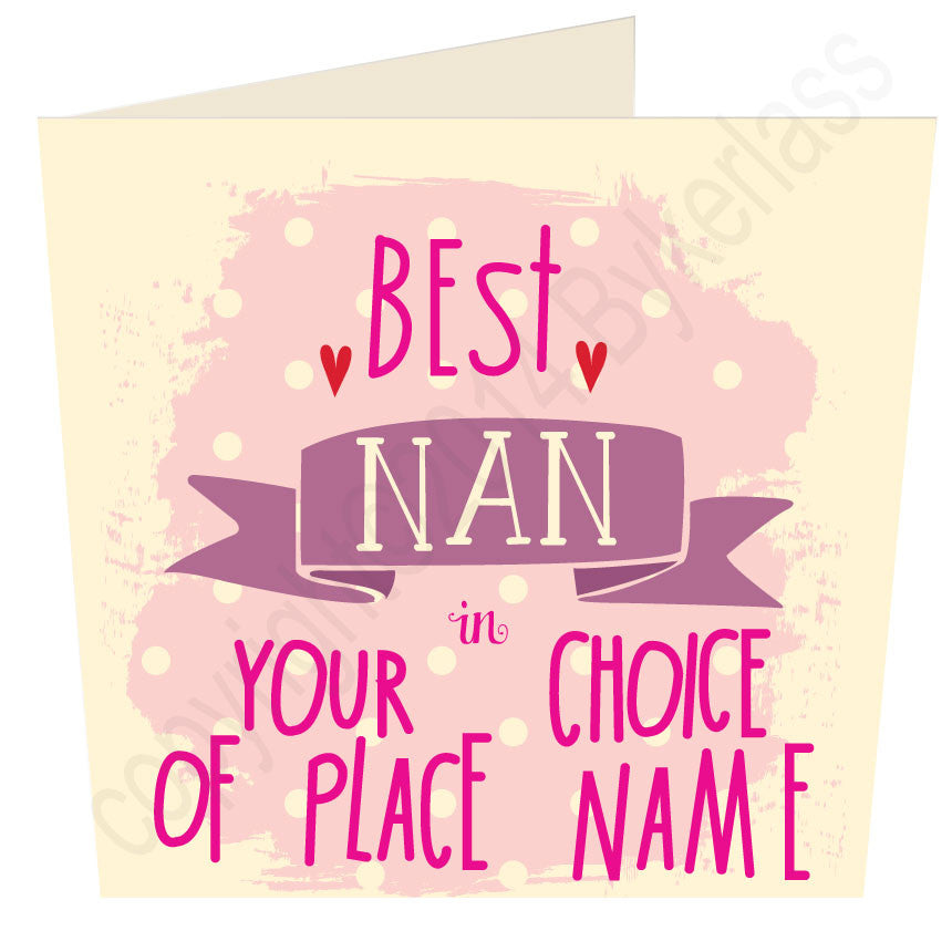 Personalised Best Nan in......