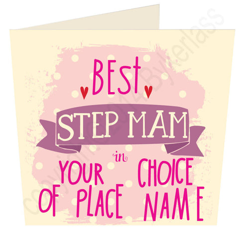 Best Step Mam in.... Personalised Card (MB13)