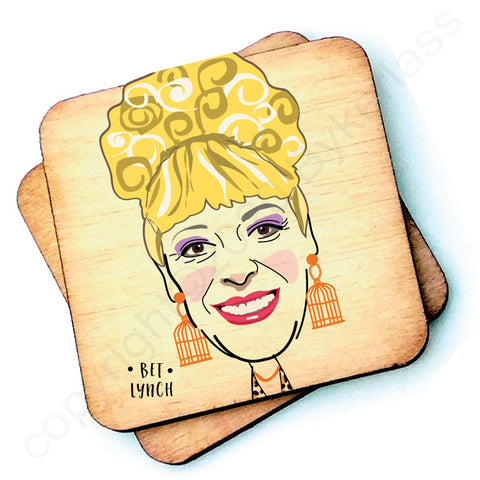 Bet Lynch Character Wooden Coaster - RWC1