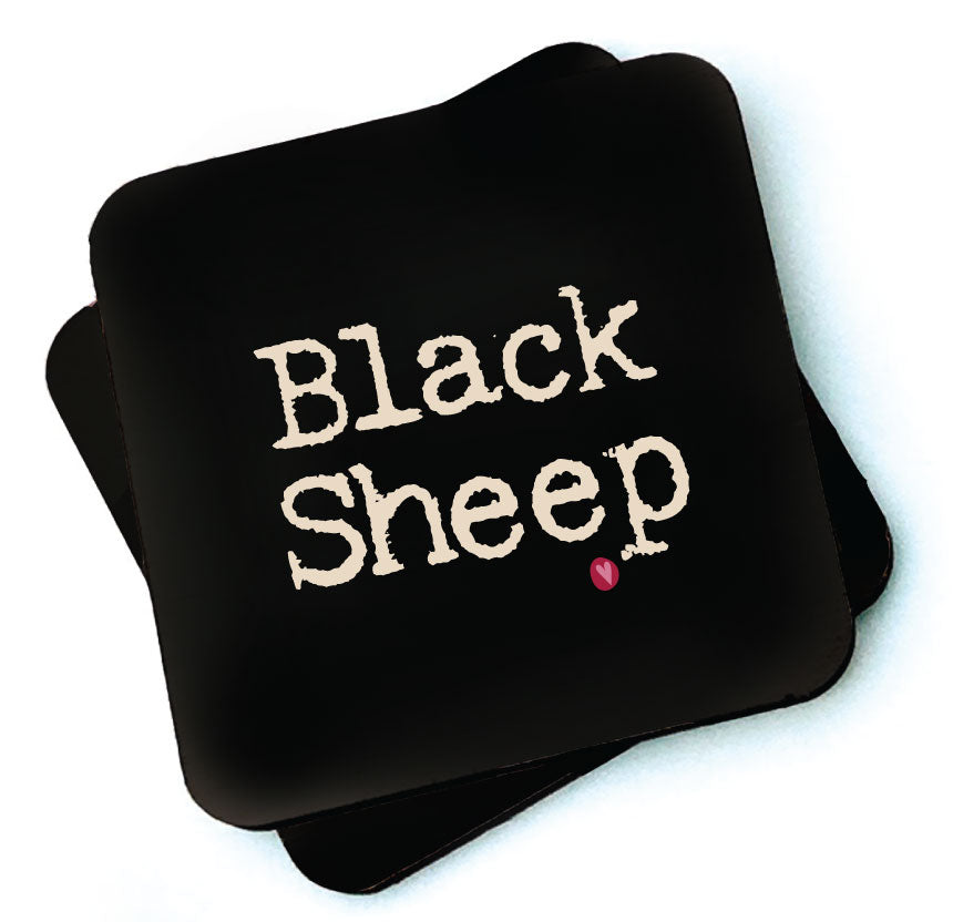 Black Sheep - Dark Collection Wooden Coaster