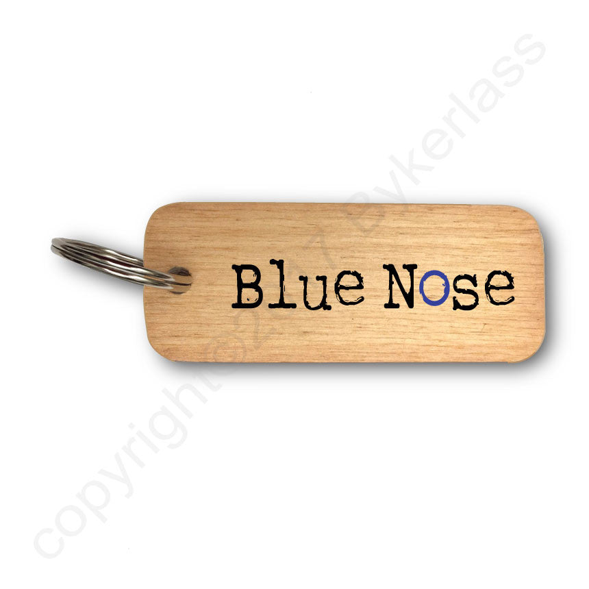 Blue Nose Scouse Rustic Wooden Keyring