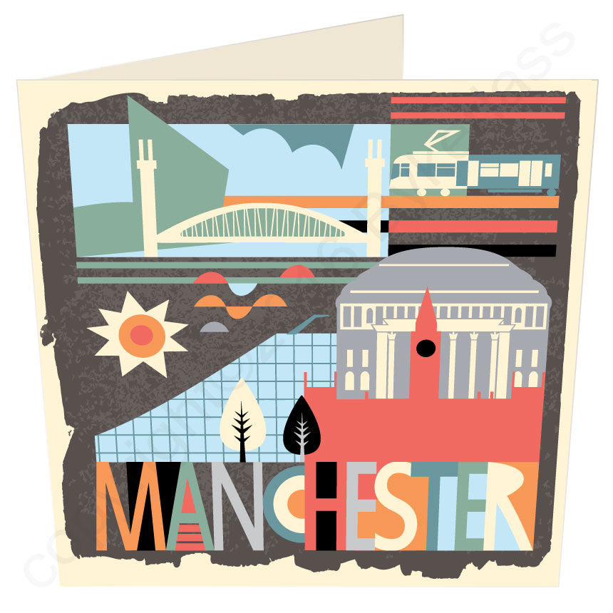City Scape Manchester Brights - North Divide Card