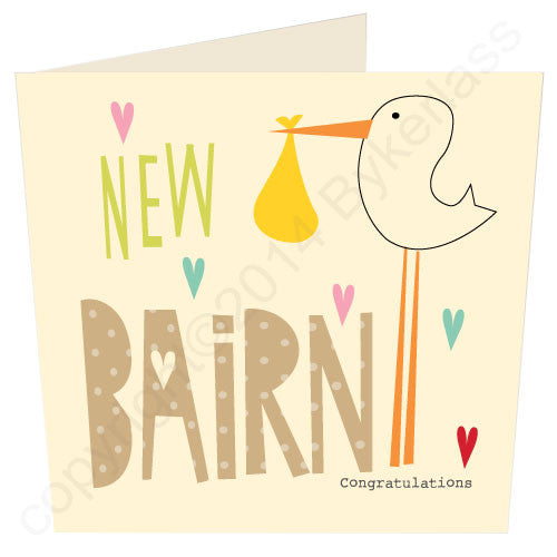 New Bairn - Northumbrian New Baby Card