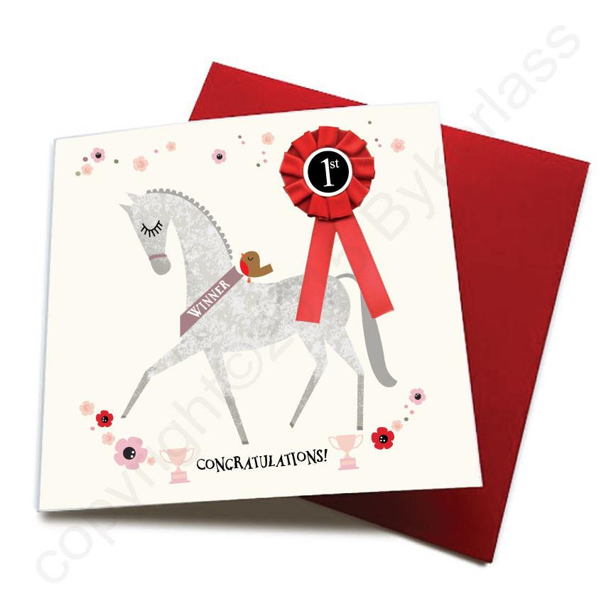 Congratulations - Horse Greeting Card