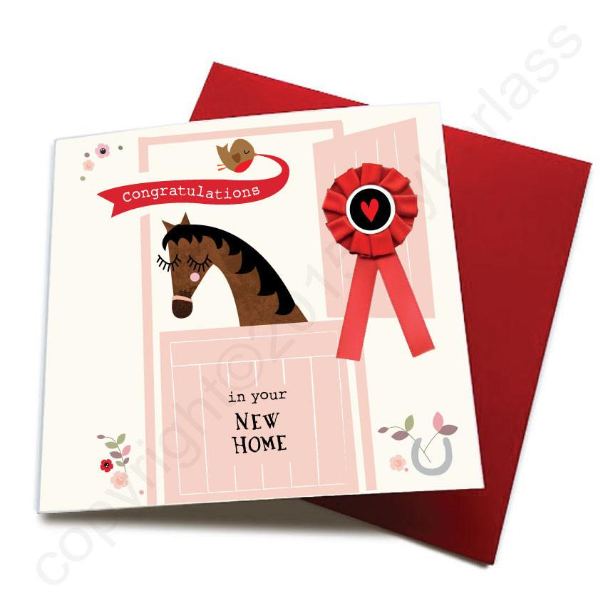 New Home - Horse Greeting Card by Wotmalike