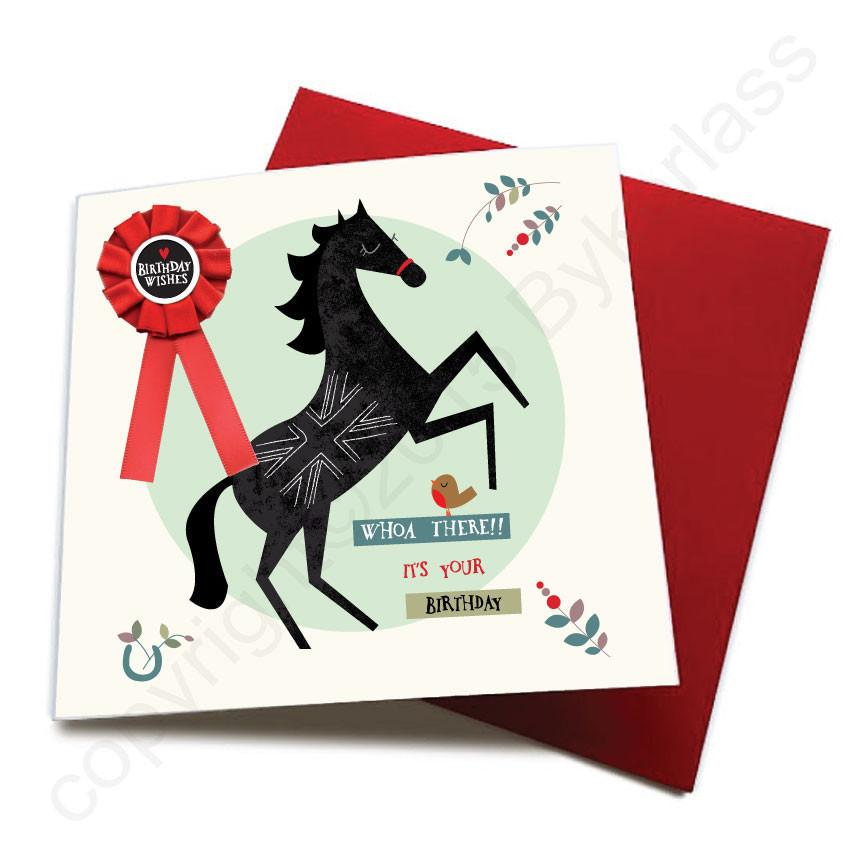 Whoa There Its Your Birthday - Horse Birthday Cards
