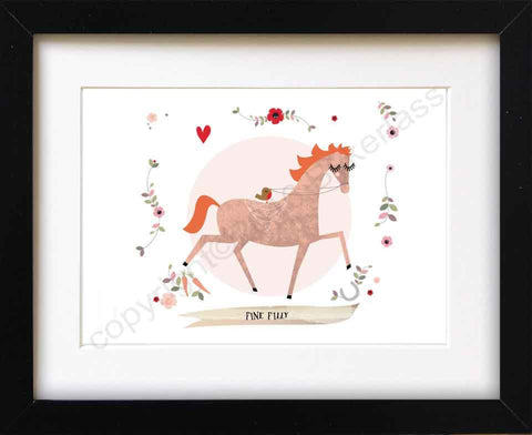 Ginger Filly Horse Mounted Print (CHDP6)