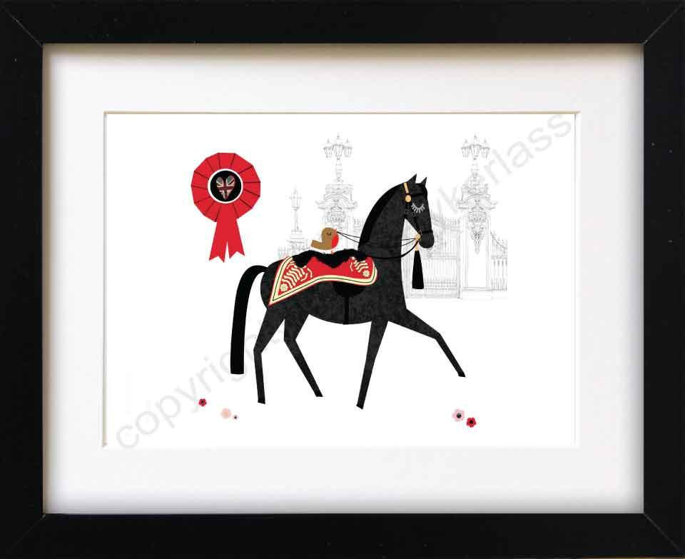 Royal Horse Mounted Print (CHDP4)