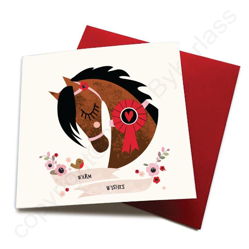 Warm Wishes - Horse Greeting Card CHDS1