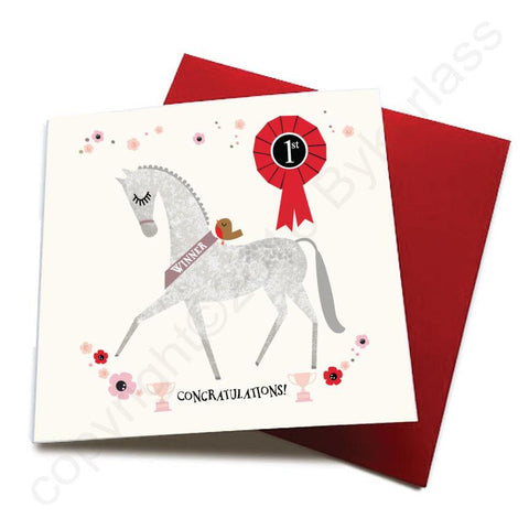 Congratulations - Horse Greeting Card  CHDS13