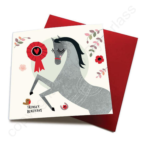 Horsey Birthday - Horse Greeting Card  CHDS14