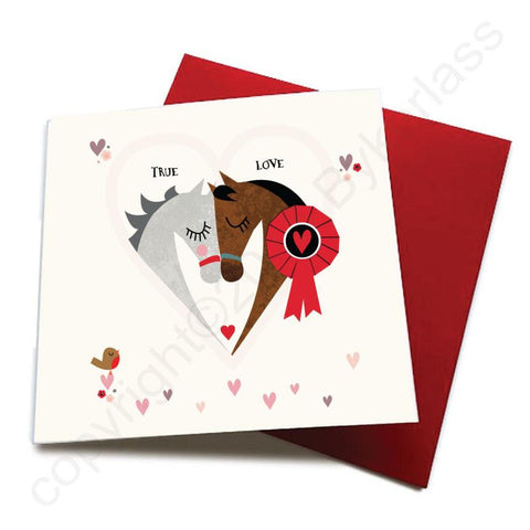 True Love - Horse Greeting Card  CHDS16