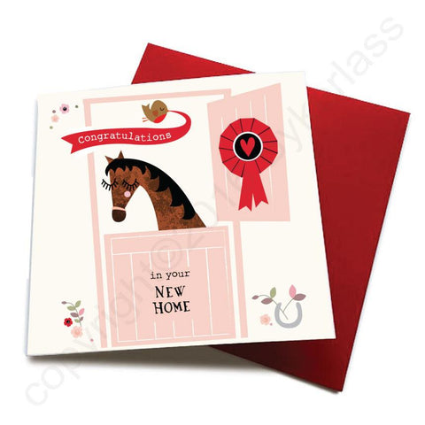 New Home - Horse Greeting Card  CHDS17