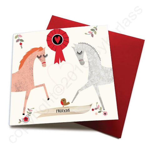 Friends - Horse Greeting Card  CHDS18