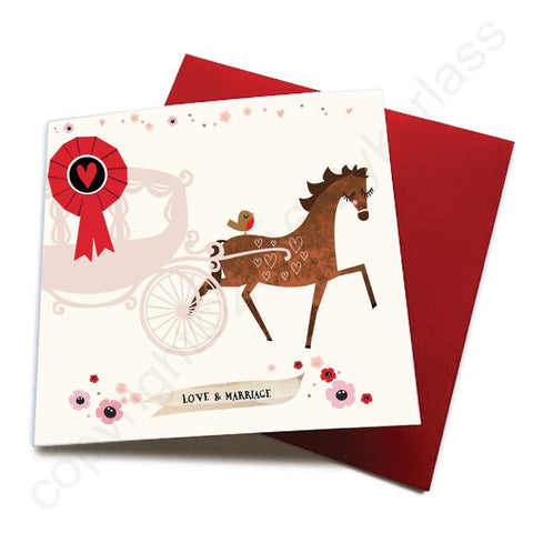 Love and Marriage - Horse Greeting Card  CHDS19
