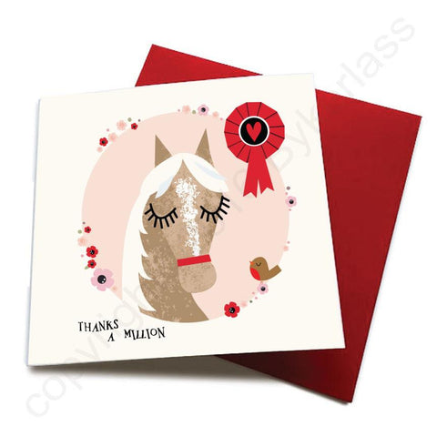 Thanks a Million - Horse Greeting Card  CHDS22