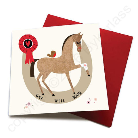 Get Well Soon - Horse Greeting Card  CHDS23