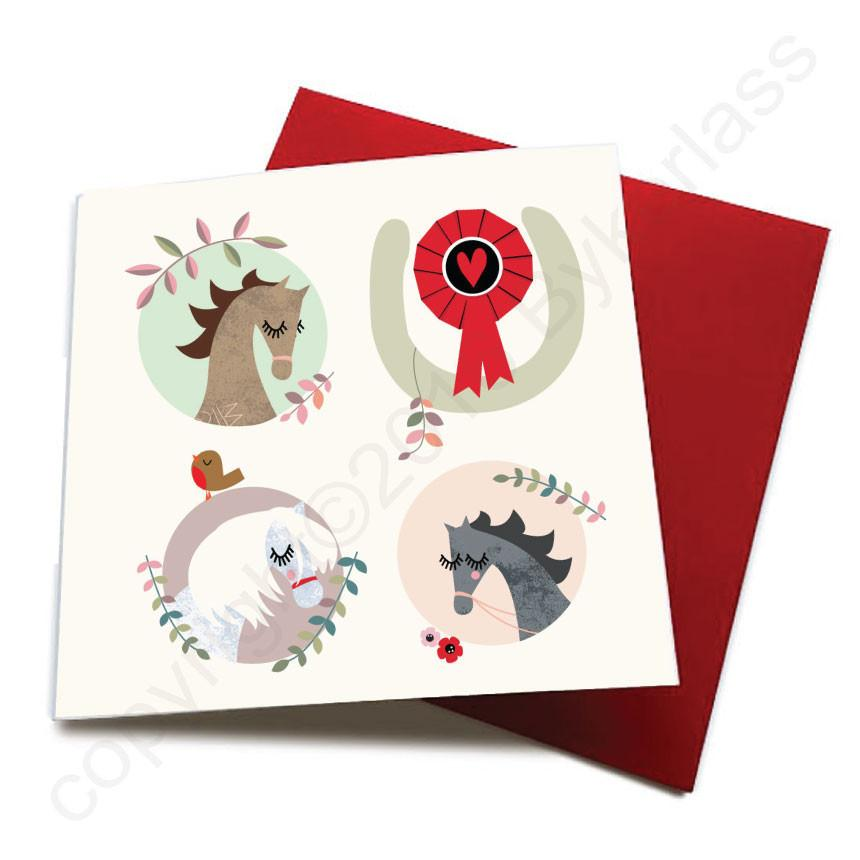 Any Occasion - Horse Greeting Card  CHDS3
