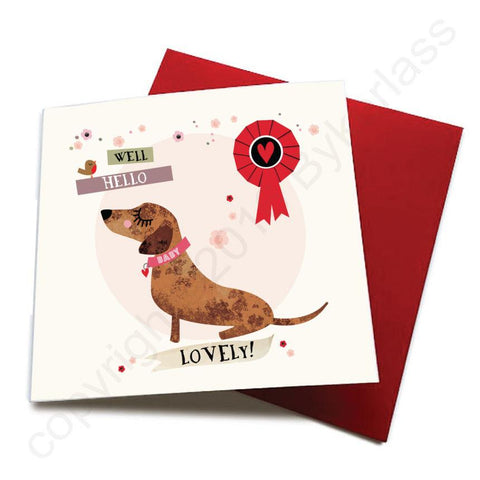 Well Hello Lovely - Dog Greeting Card  CHDS55