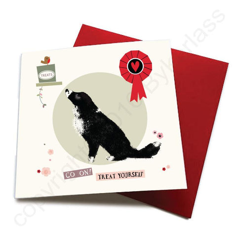 Go On Treat Yourself - Dog Greeting Card  CHDS56