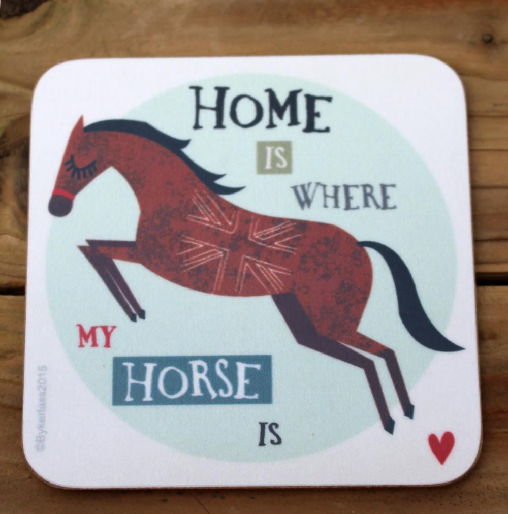 Homes Is Where - Horse Coaster by Charlton Hall Designs