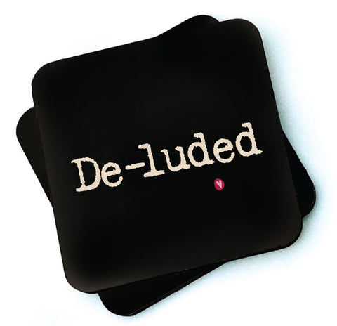 De-luded - Dark Collection Wooden Coasters - RWC1
