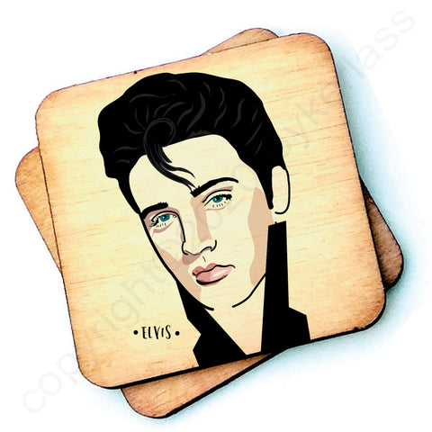 Elvis - Character Wooden Coaster - RWC1